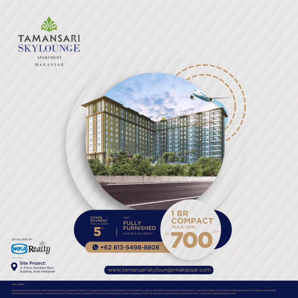 Promo Apartemen Tamansari Skylounge Makassar Apartment